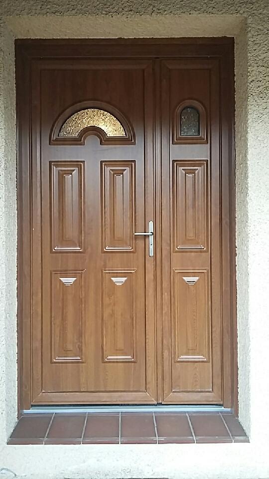 Porte pvc couleur bois ext innov menuiseries for Pvc couleur bois