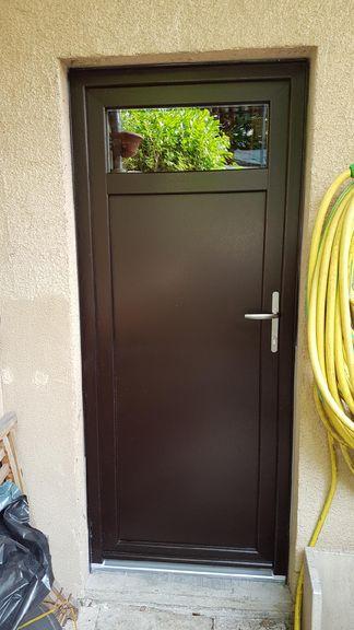 Portes DEntrée PVC Composite Acier Innov Menuiseries - Porte d entree pvc couleur